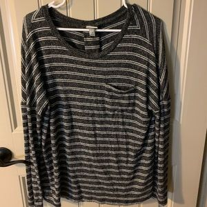 a new day grey and white striped sweater
